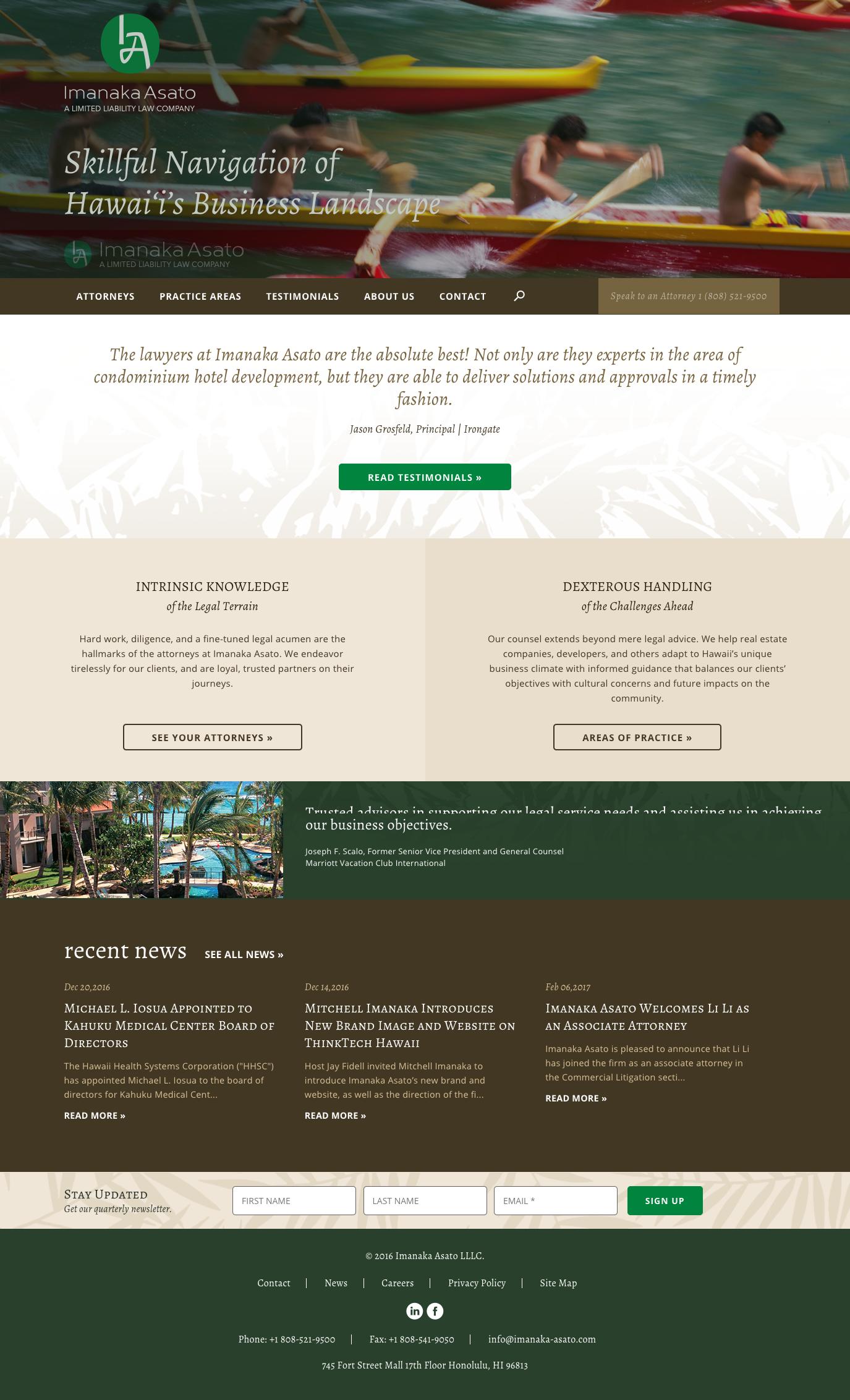 Imanaka Asato Homepage Design