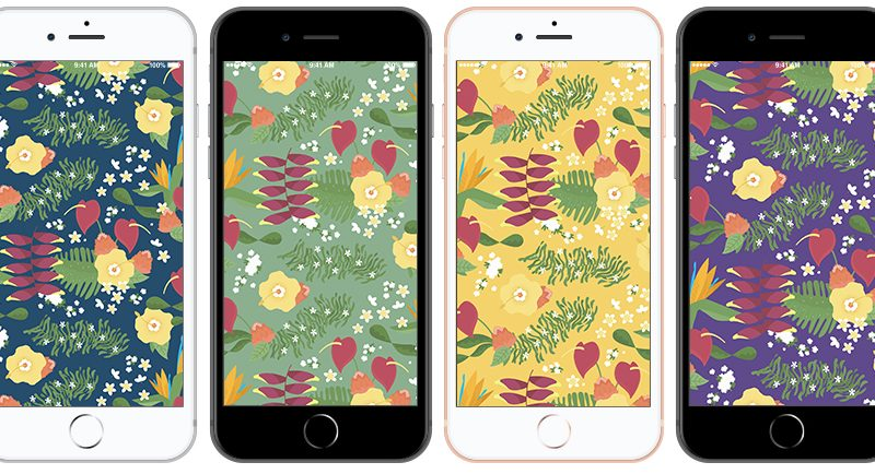 Hawaiian Print 01 Floral Background Iphone Samples
