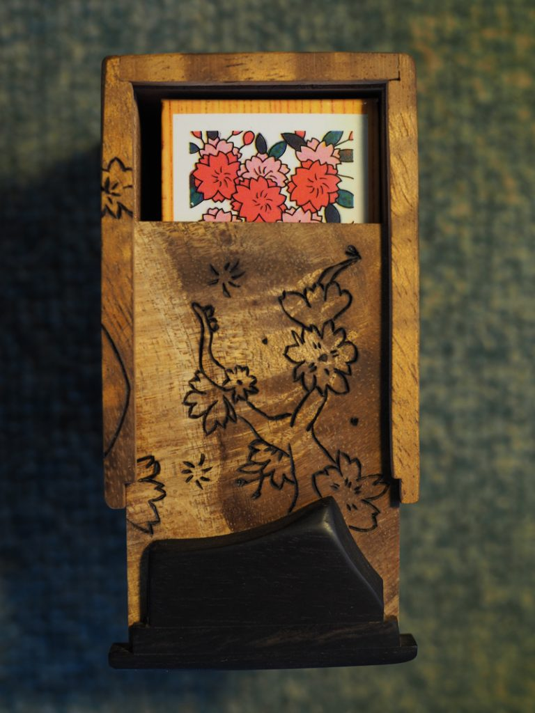 Hanafuda box top view