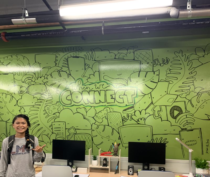 Hawaiian Telcom White Board Mural with Me